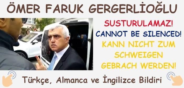 Ömer Faruk Gergerlioğlu Susturulamaz!
