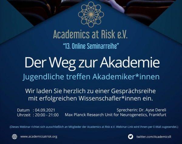 """13. Online Seminarreihe:  """"Der Weg zur Akademie"""""""